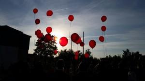 Der goldene Luftballon ist für Rouven aufgestiegen.