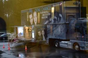 Der Info-Truck der Metall- und Elektroindustrie sorgte für Begeisterung
