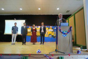 Mahdi Rahimi, Sabri Etemi, Amy Di Carlo und Fabio Mildenberger bei der Preisverleihung des Fördervereins.