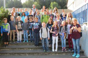 Die neuen Schüler der Lerngruppe 5